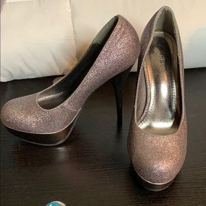 Multi-Colored Glitter Shoes! (5 inch heels) size 7